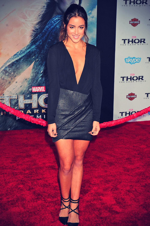 Chloe Bennet attends Thor The Dark World Hollywood Premiere