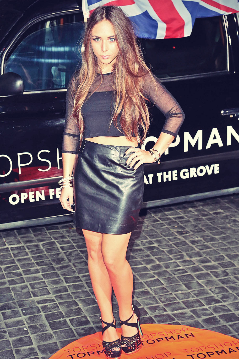 Chloe Green arrives at the Topshop Topman LA Opening Party