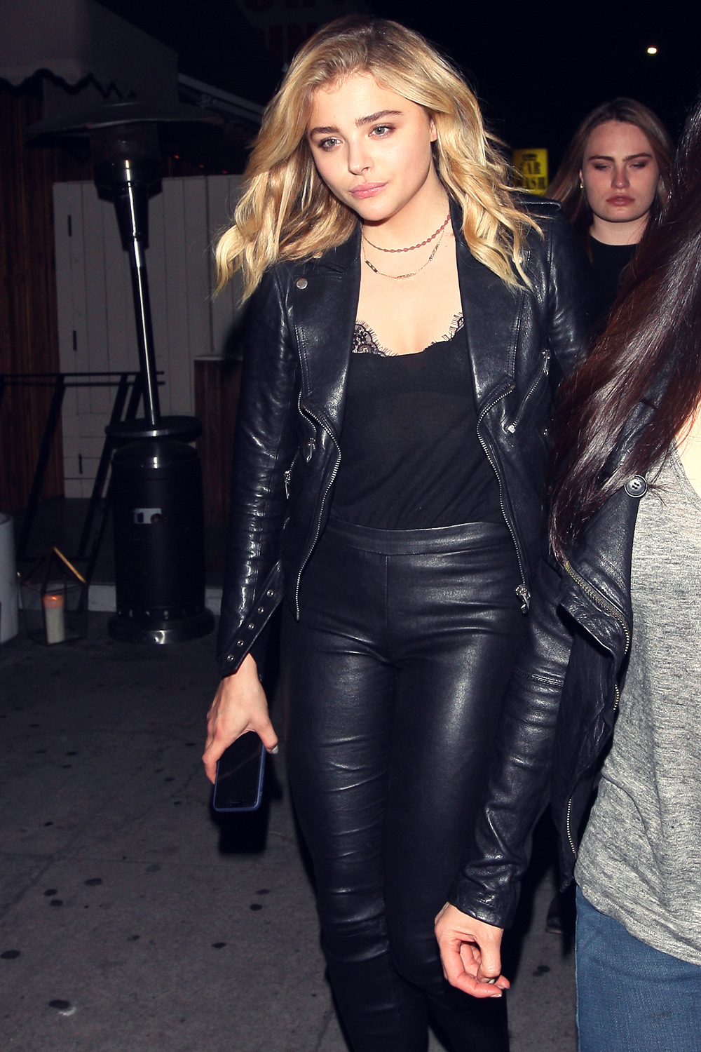 594b7d5114 Chloe Moretz Leather Pants - Leather Celebrities