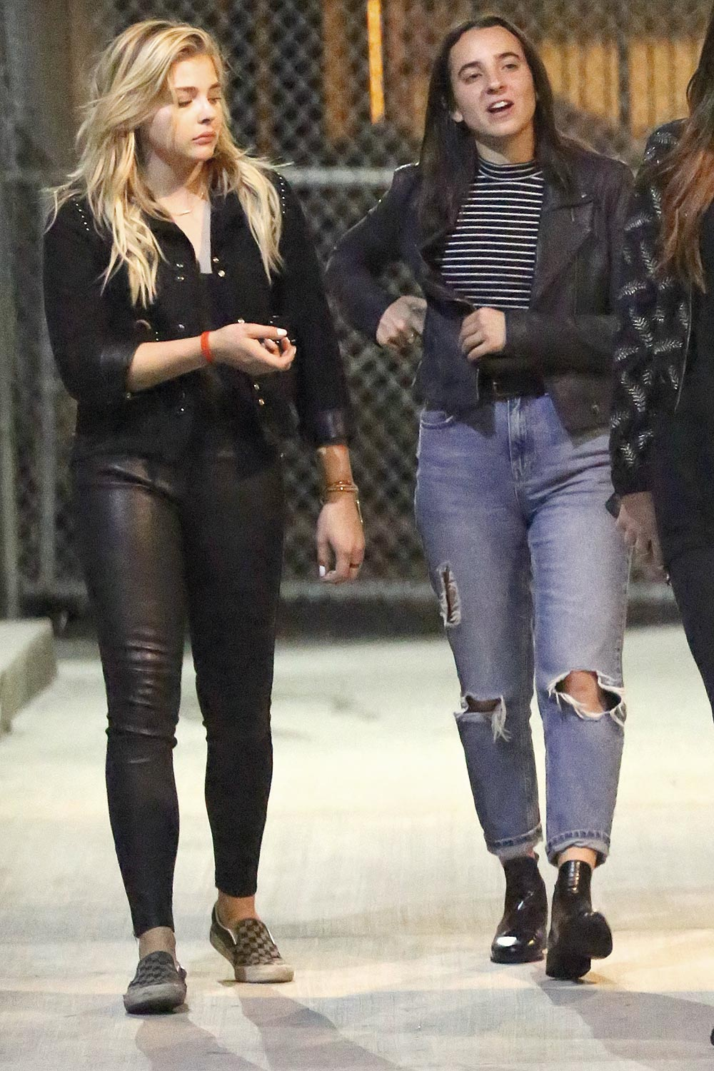e31a9b6266 Chloe Moretz leaving Warwick nightclub - Leather Celebrities