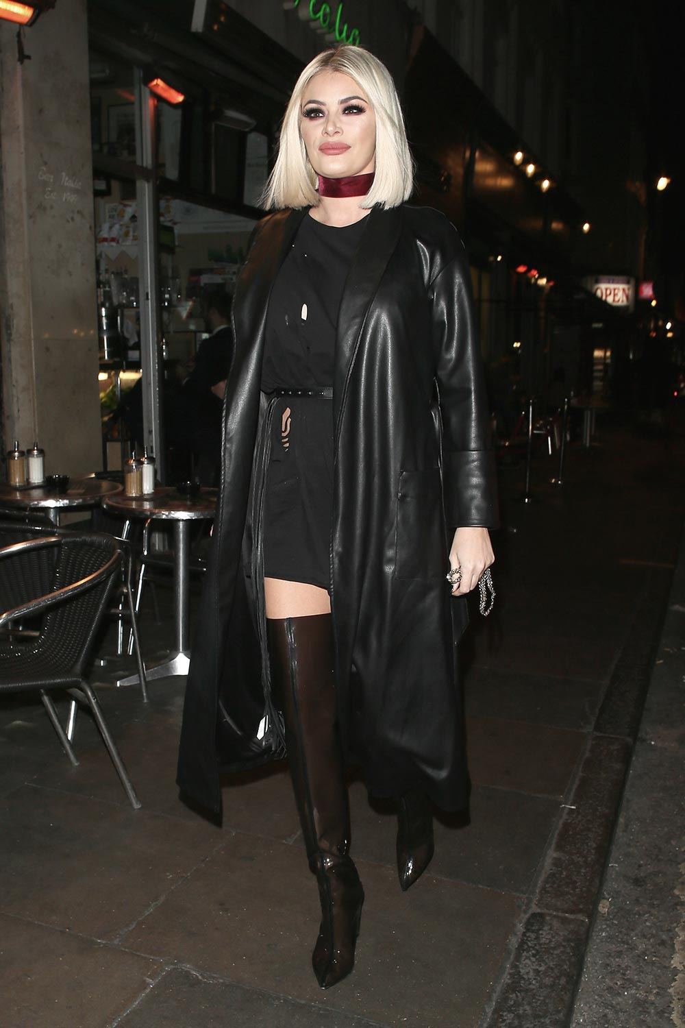 Chloe Sims celebrating her 35th Birthday at Little Italy restaurant