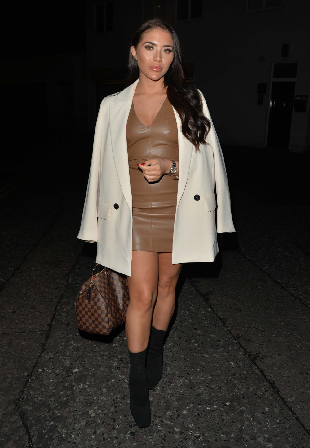 Chloe Brockett seen at Amazonico restaurant in Mayfair, London