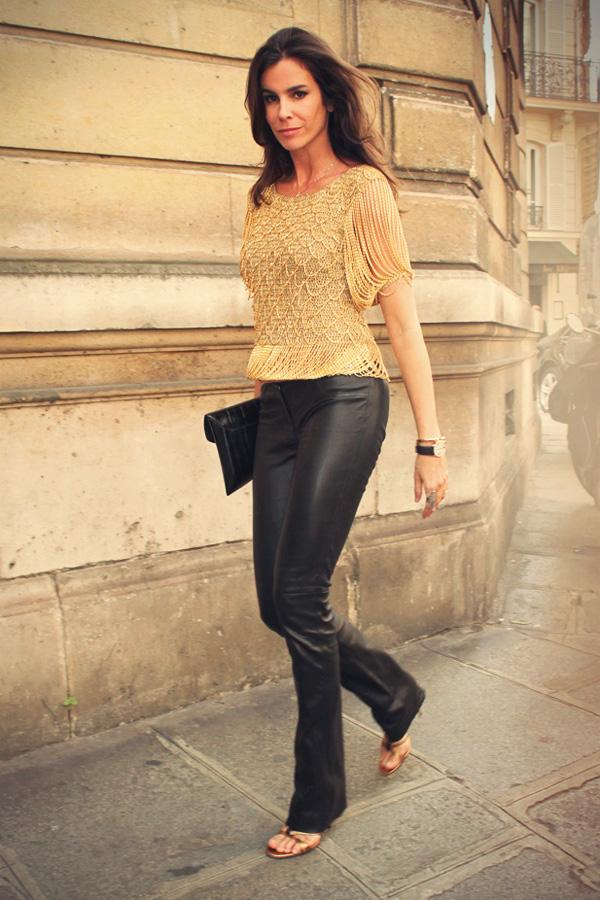 Christina Pitanguy leather mix