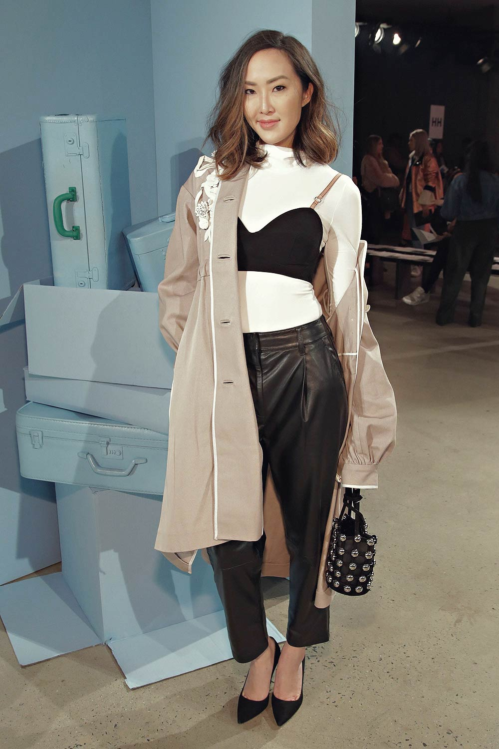 Chriselle Lim attends the Tibi fashion show