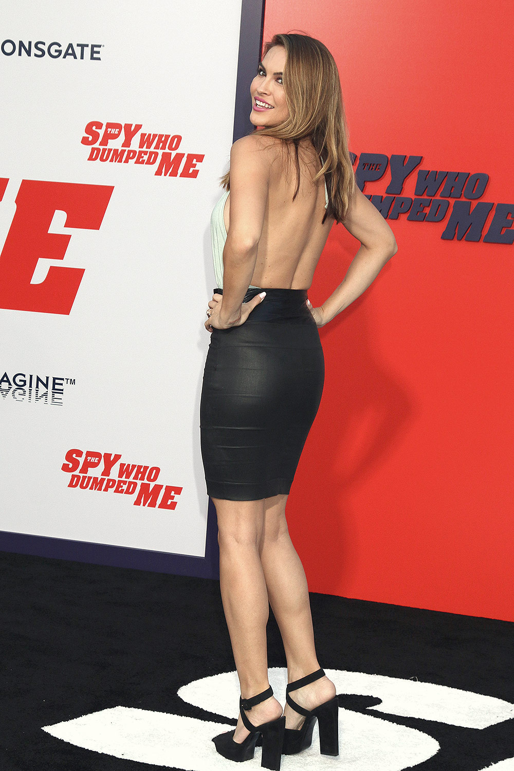 Chrishell Stause attends The Spy Who Dumped Me film premiere