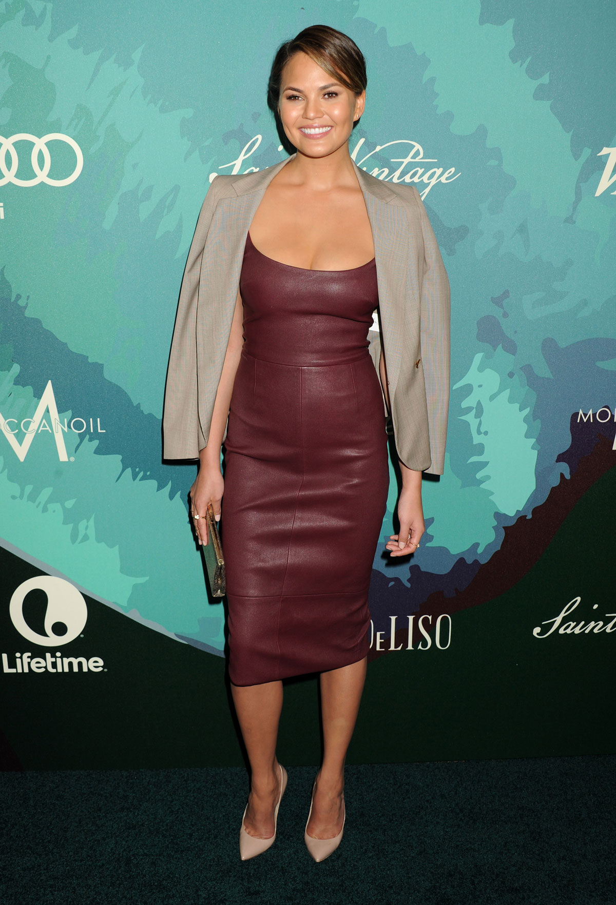 Chrissy Teigen attends 2014 Variety Power of Women presented