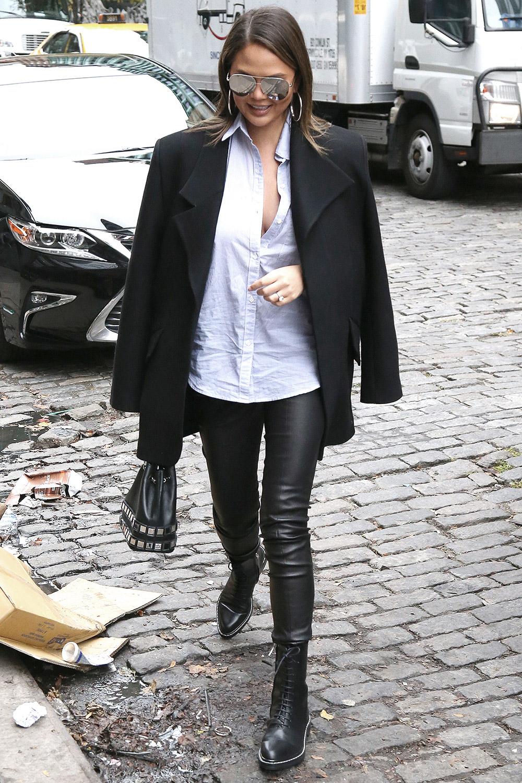 Chrissy Teigen out in New York