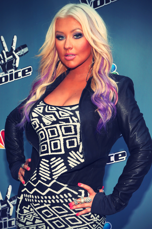 Christina Aguilera at The Voice Press
