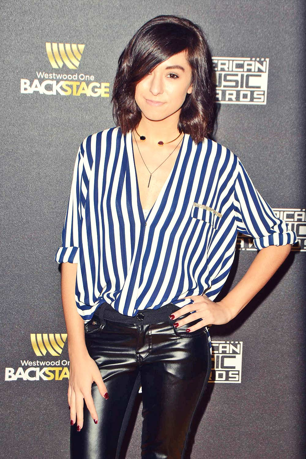 Christina Grimmie attends Westwood One presents the American Music Awards