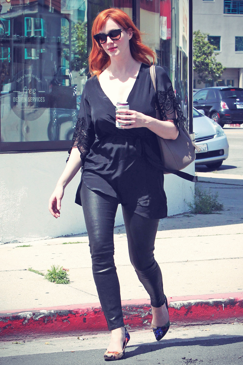 Christina Hendricks out Furniture Shopping LA