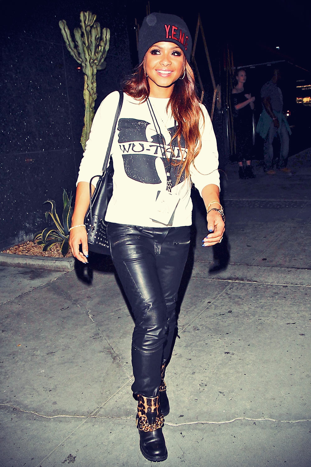Christina Milian At Bootsy Bellows in Hollywood