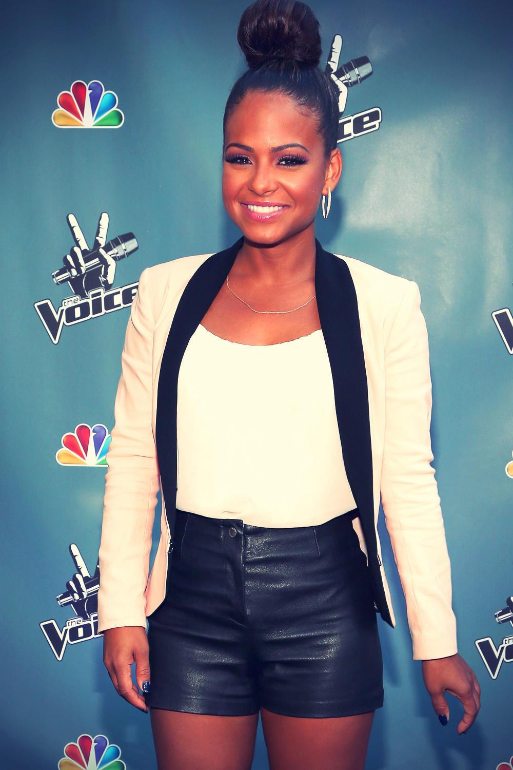 Christina Milian Leather Shorts