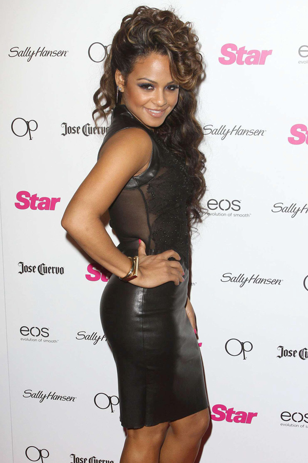 Christina Milian at Star Magazines party