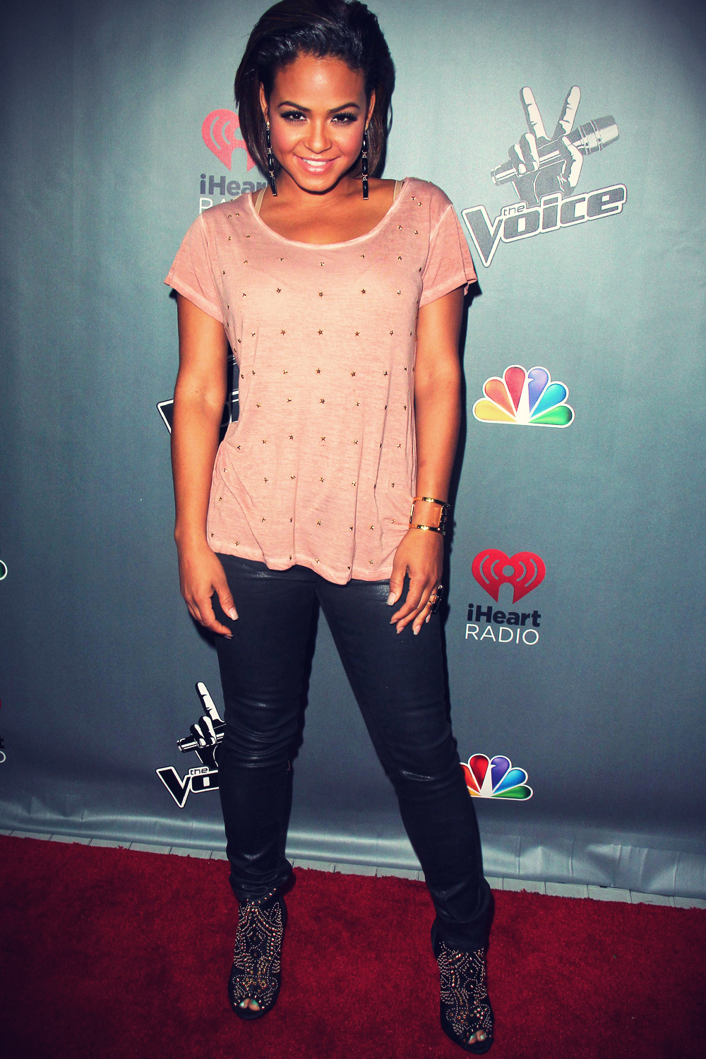 Christina Milian at NBC Universal's The Voice Season 3