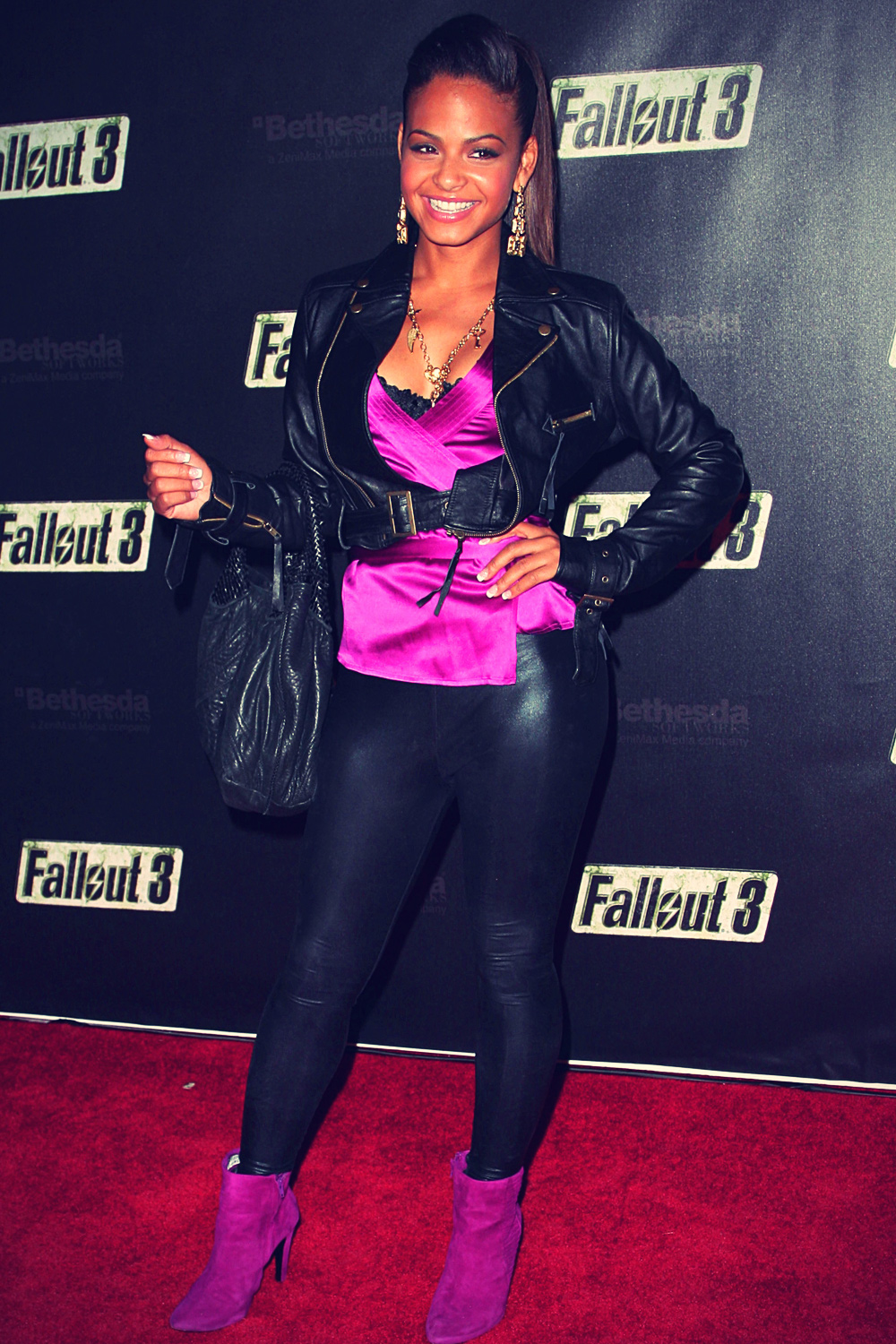 Christina Milian at launch Party for Fallout 3
