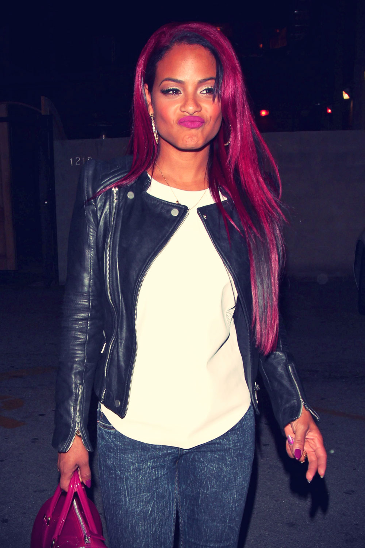Christina Milian attend Supper nightclub
