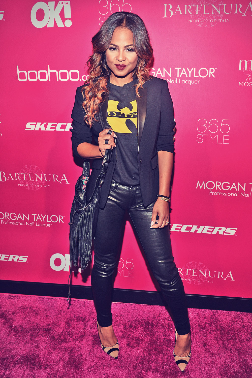 Christina Milian attends OK Fashion Week in New York