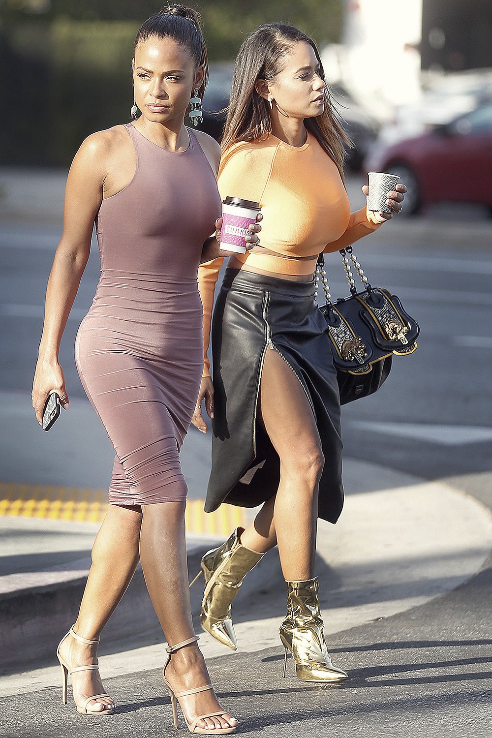Christina Milian out with her sister