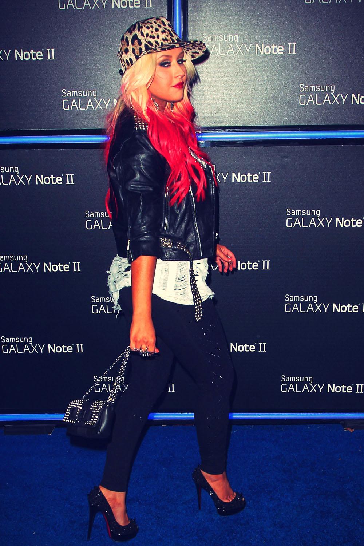 Christina Aguilera at Samsung Galaxy Note II launch party