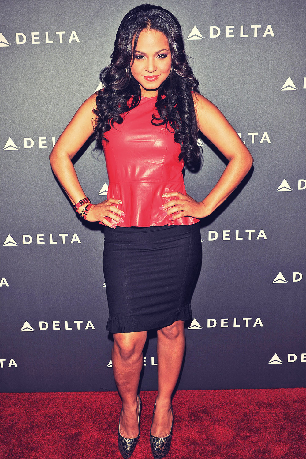 Christina Milian Delta Airlines Grammy Week LA Reception