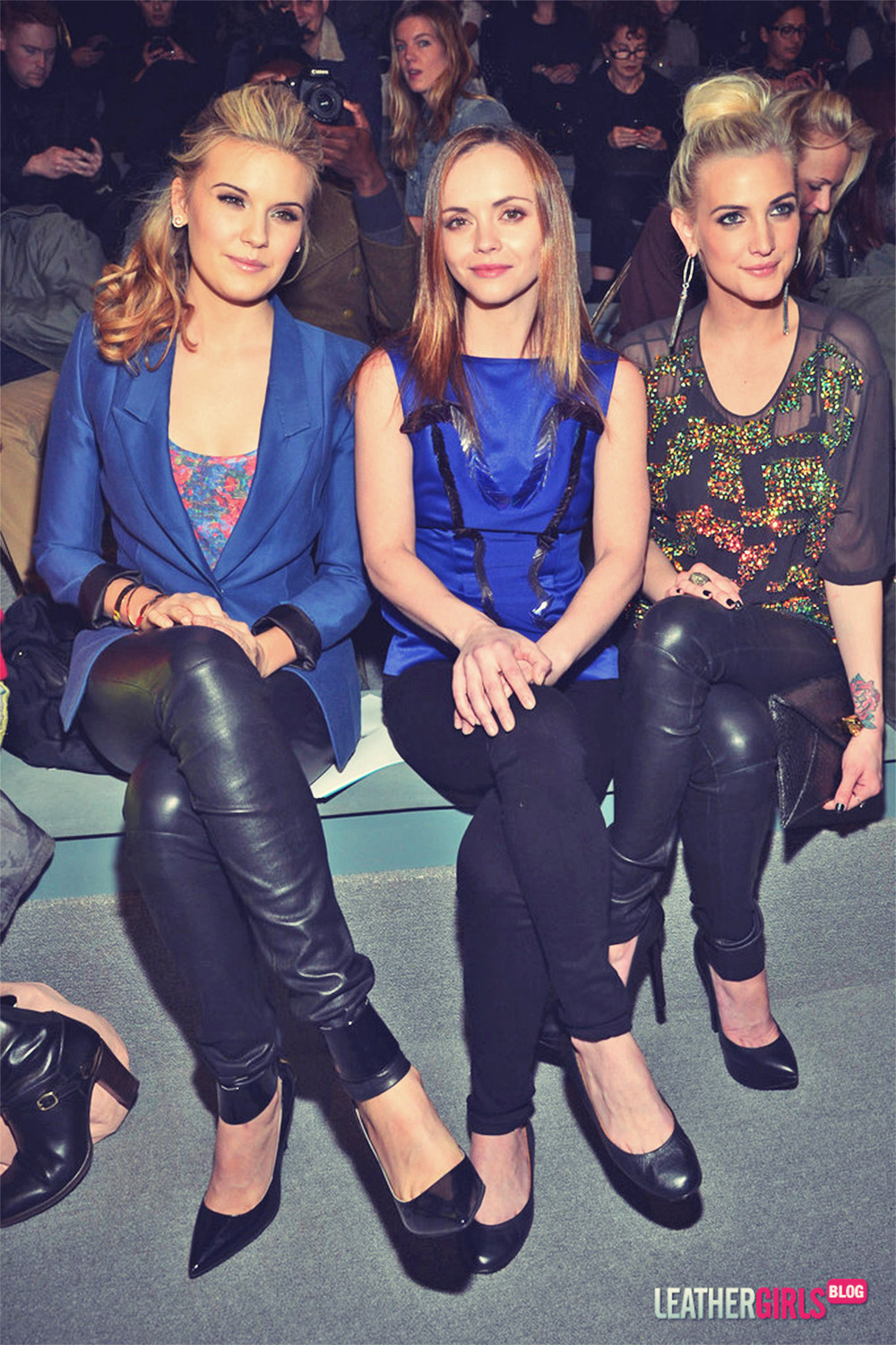 Christina Ricci, Maggie Grace and Ashlee Simpson attends Mercedes-Benz Fashion Week New York