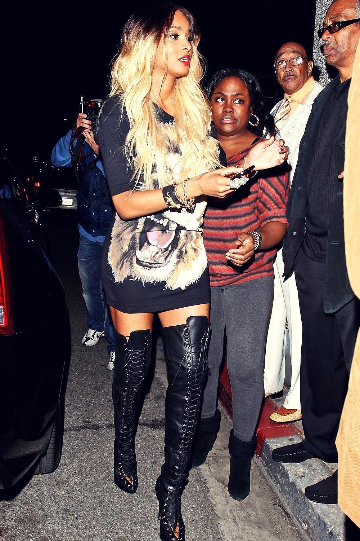 Ciara arrives at a Pre-Grammy party