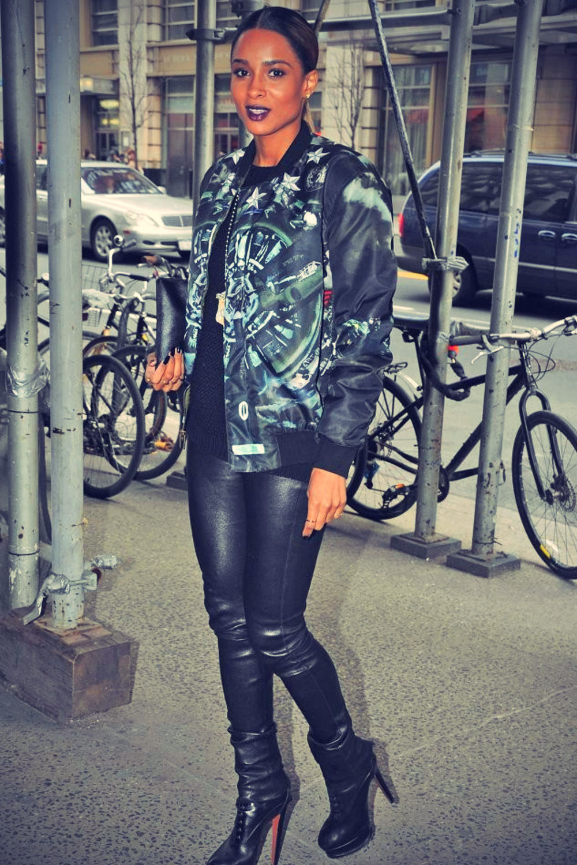 Ciara arriving in Midtown, New York City