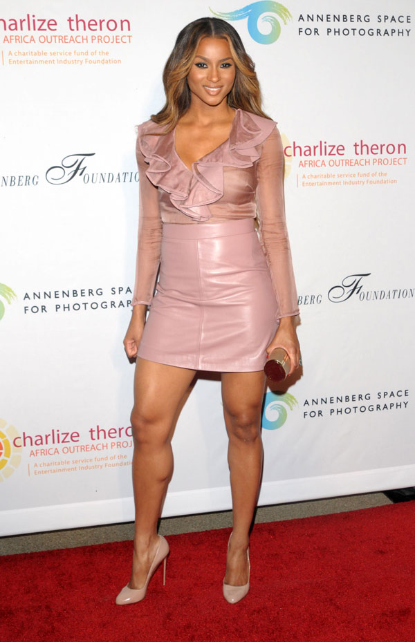 Ciara at Charlize Theron outreach project