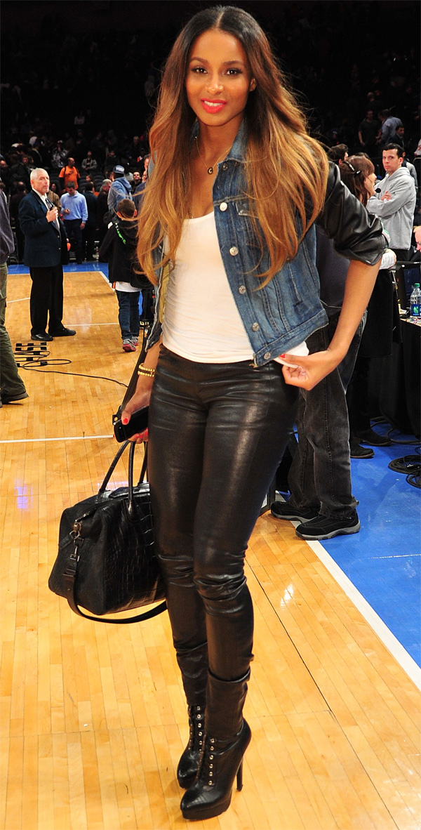 Ciara at the Knicks game in NYC