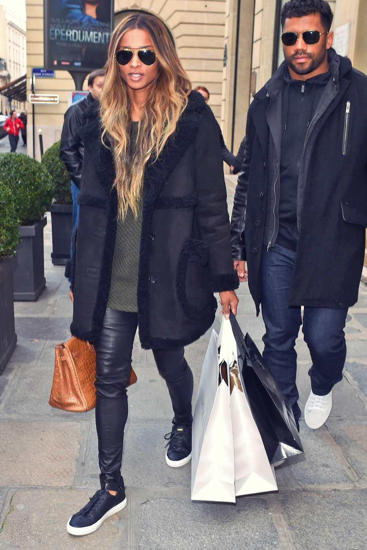 Ciara shopping at La Perla in Paris