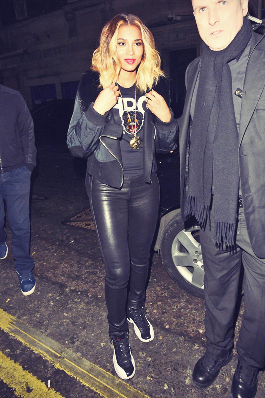 Ciara arrives at DSTRKT restaurant
