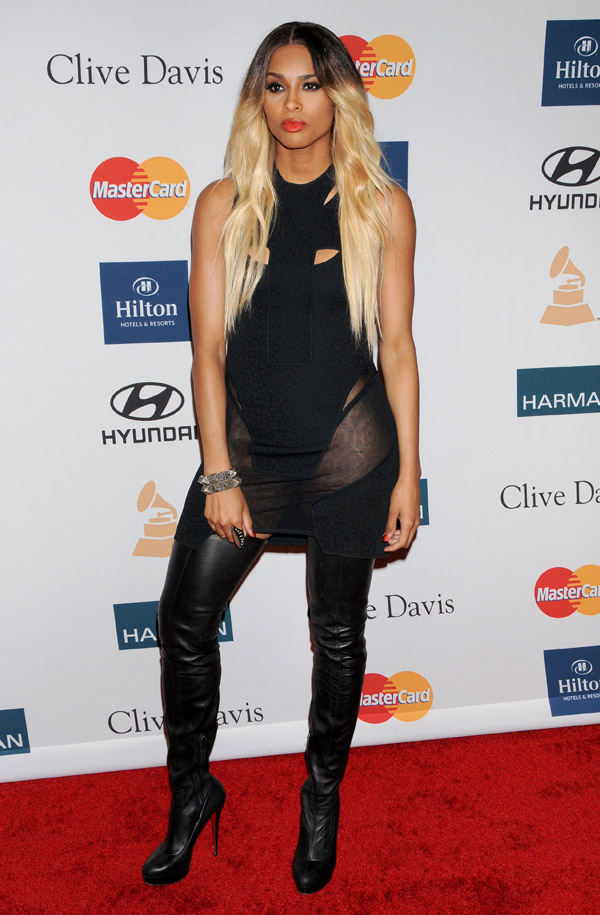 Ciara at Clive Davis And The Recording Academy's 2012 Pre-GRAMMY Gala