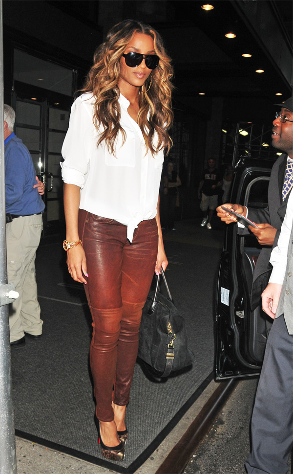 Ciara leaving her hotel in New York City