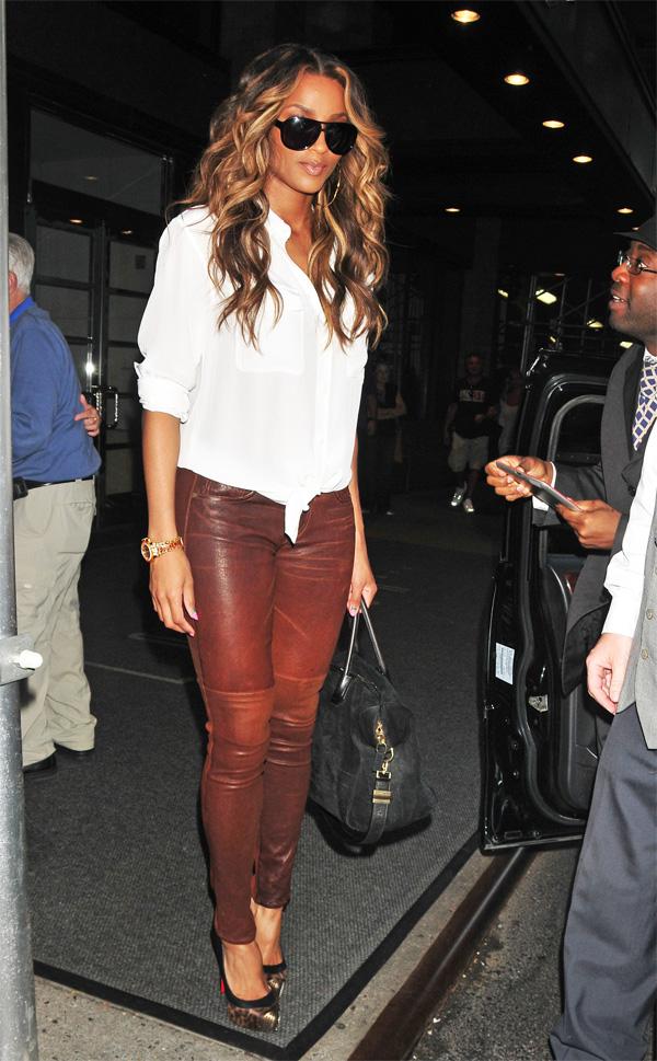 Ciara leaving her hotel in New York City