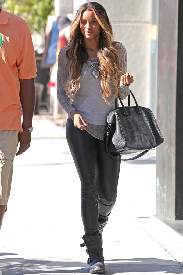 Ciara leaving lunch at The Cheesecake Factory in LA