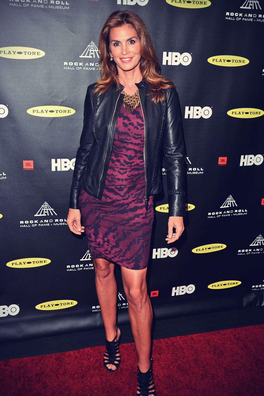 Cindy Crawford attends 28th Annual Rock & Roll Hall of Fame Induction Ceremony