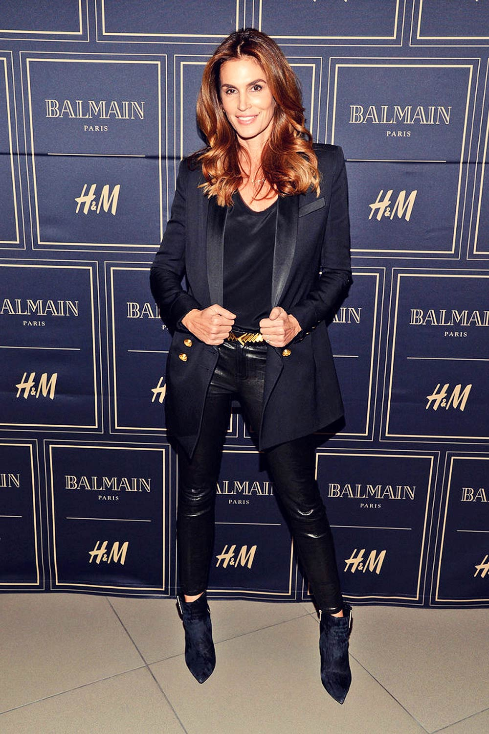 Cindy Crawford attends the Balmain x H&M LA VIP Pre-Launch