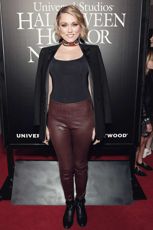 Clare Grant attends Universal Studios 'Halloween Horror Nights' opening night