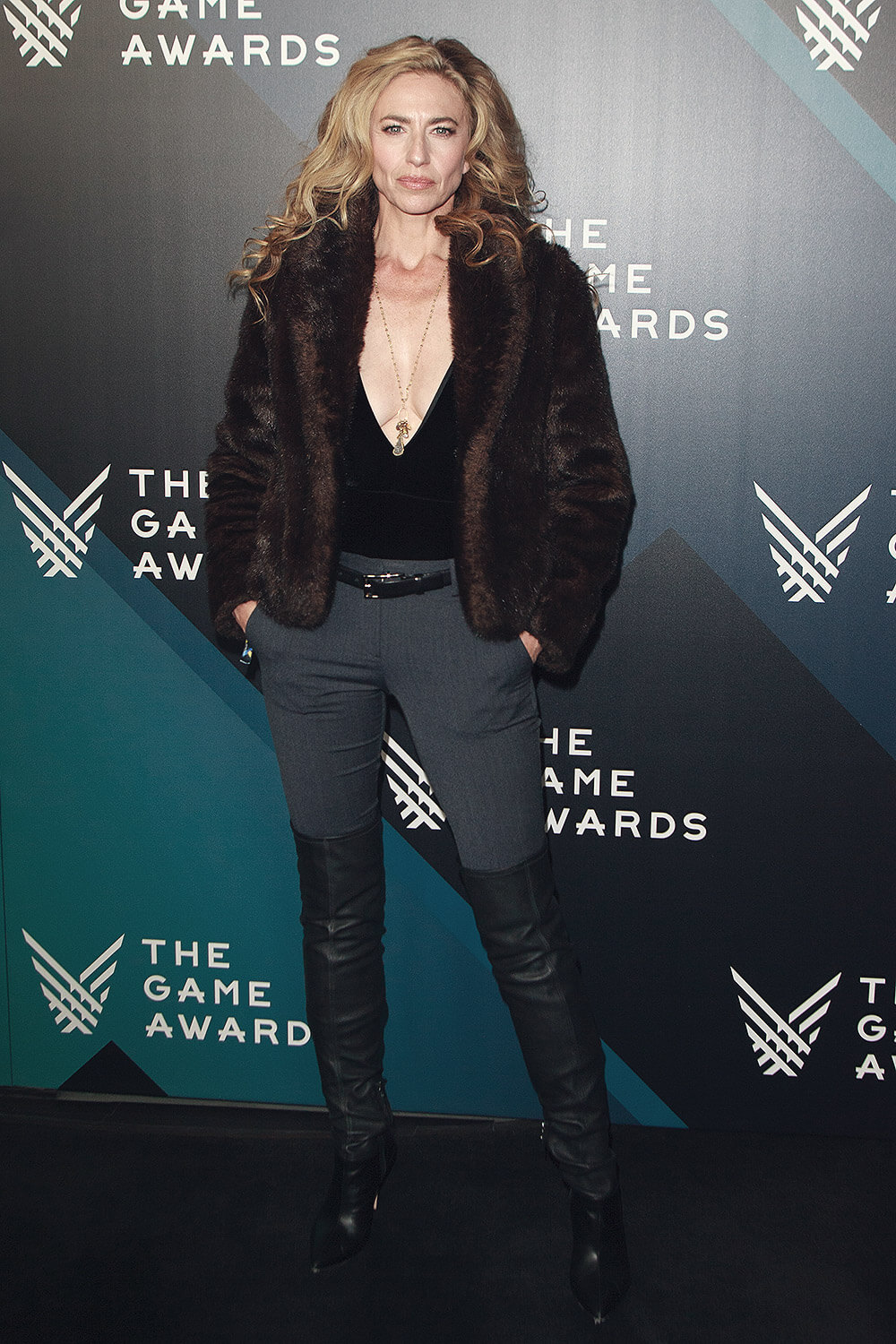 Claudia Black attends The Game Awards 2017