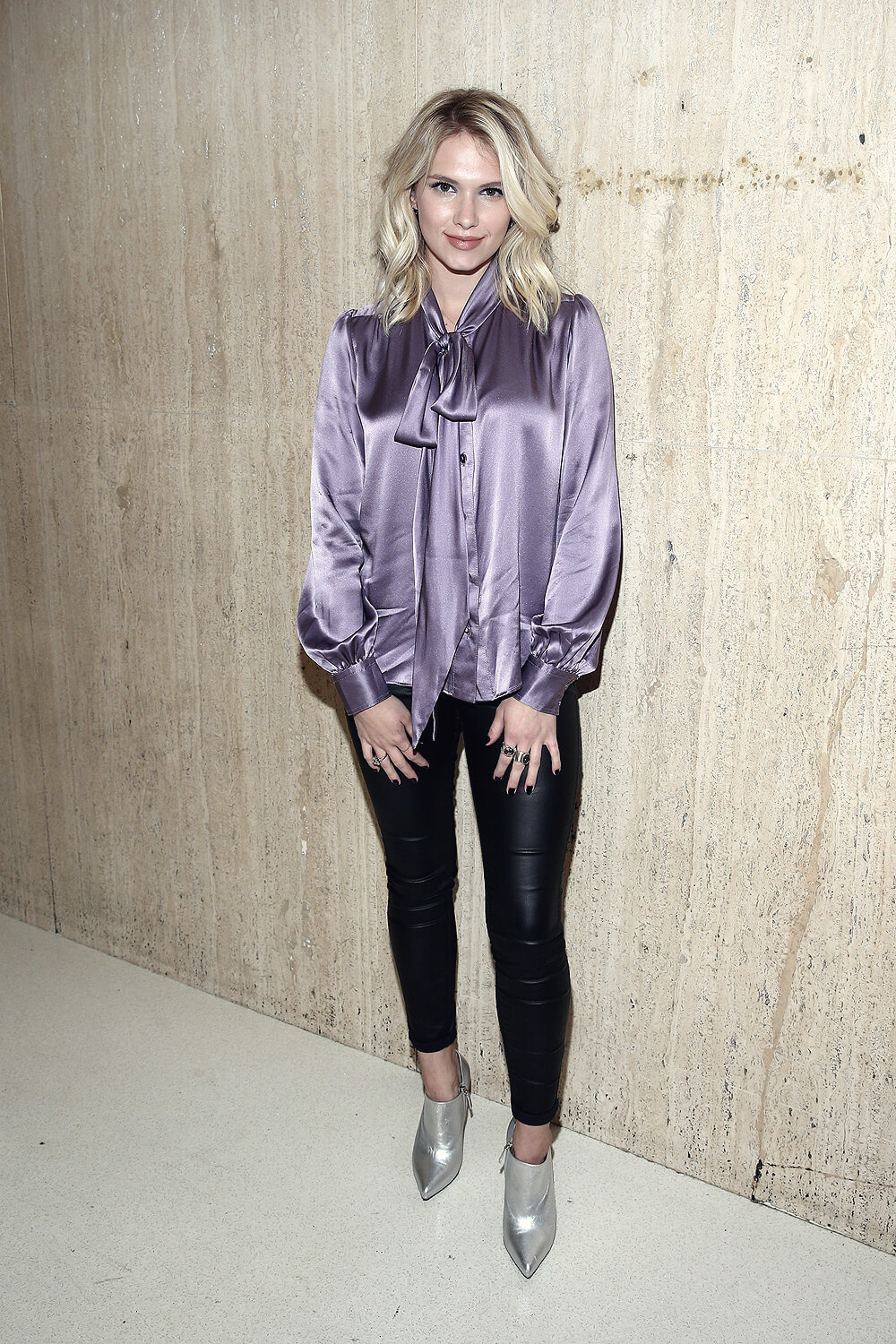 Claudia Lee attends Wolk Morais Collection 3 Fashion Show