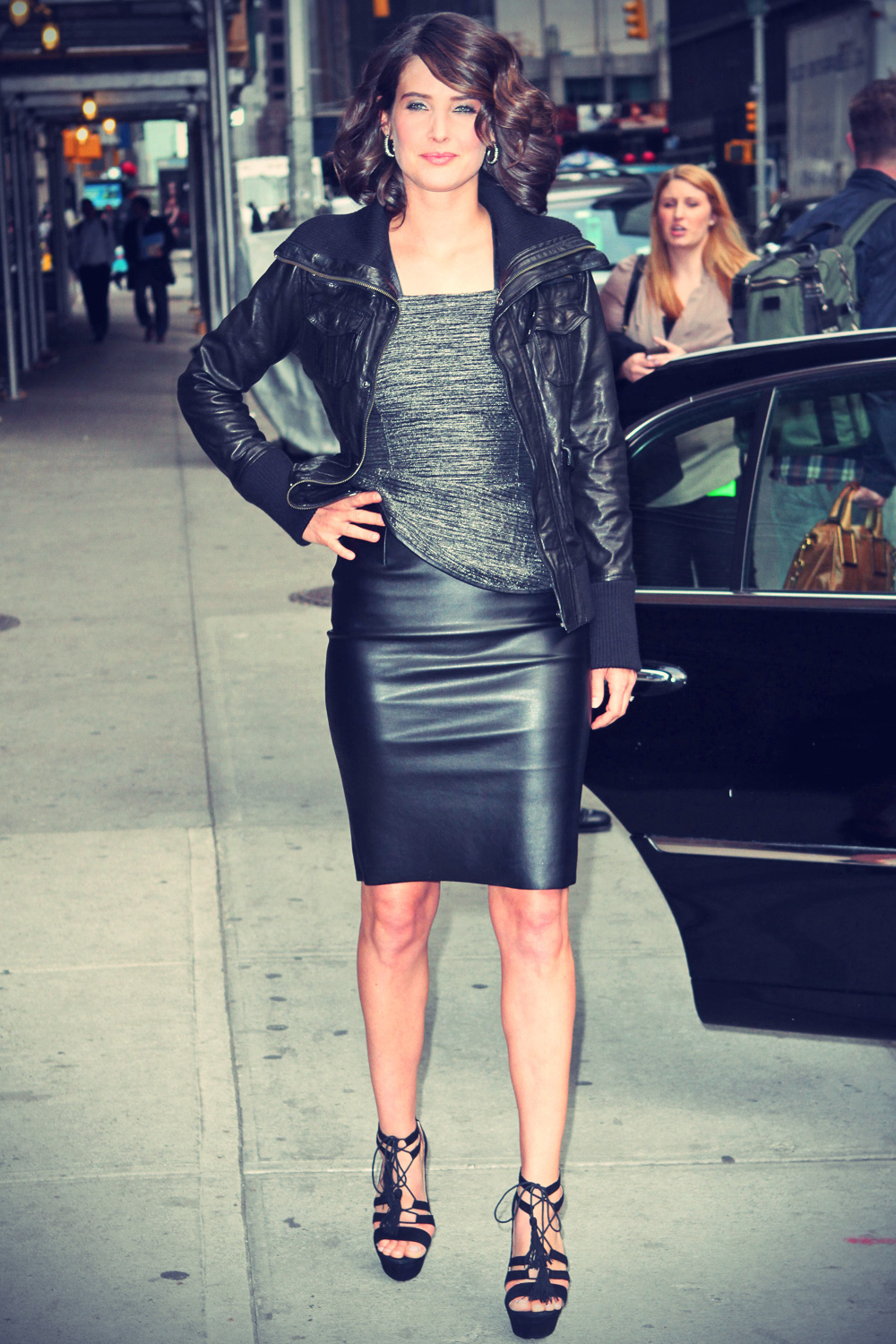 Cobie Smulders at Late Show with David Letterman
