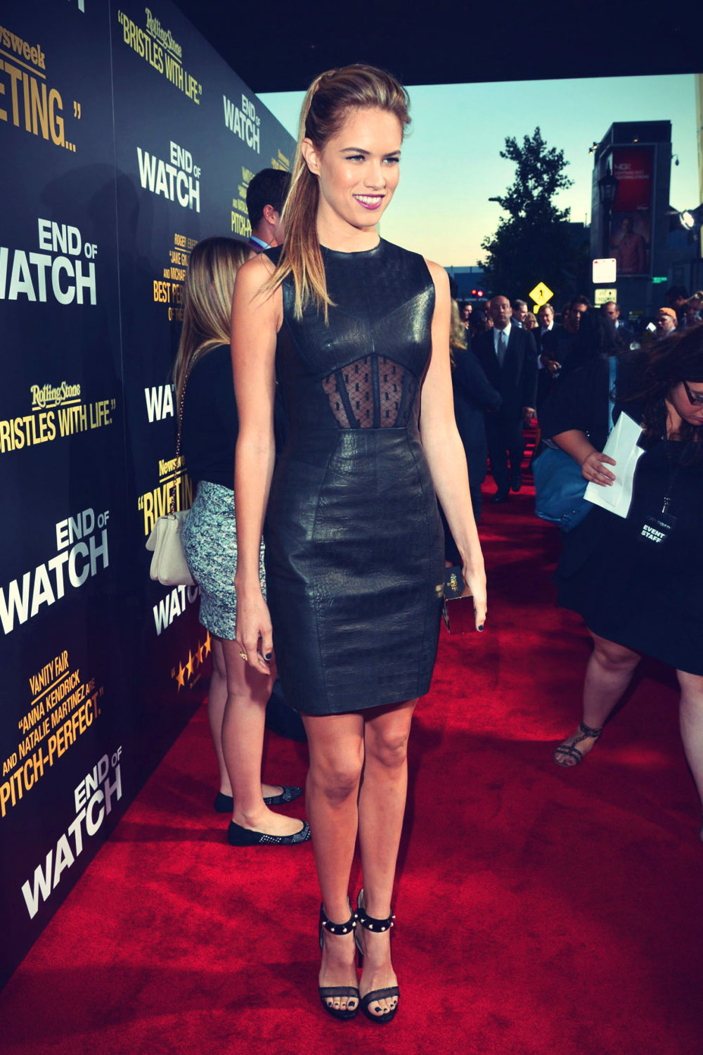 Cody Horn at End of Watch premiere