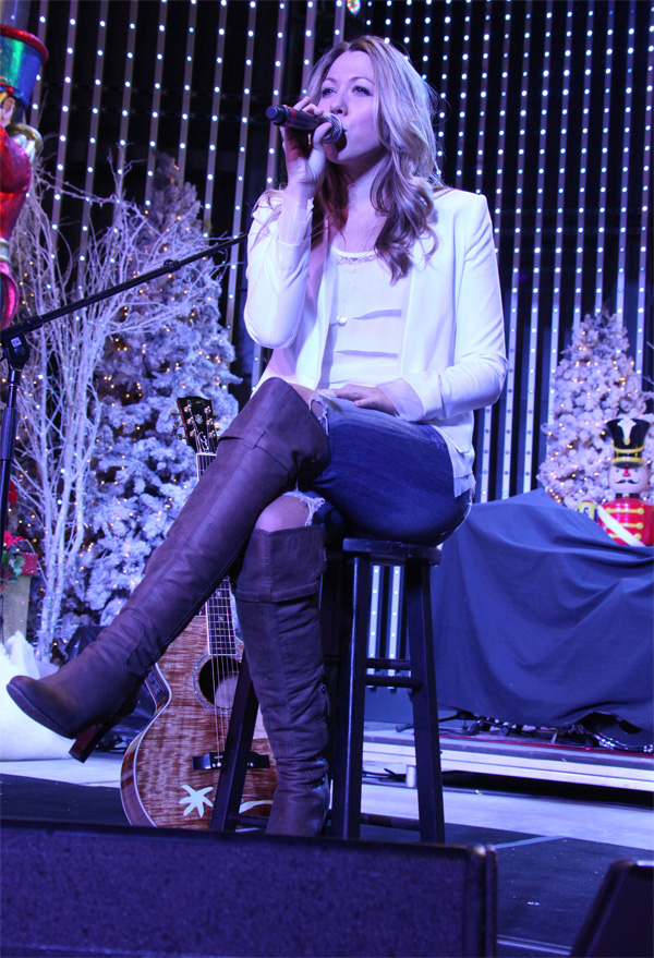 Colbie Caillat at Rock the Red Kettle at Universal CityWalk
