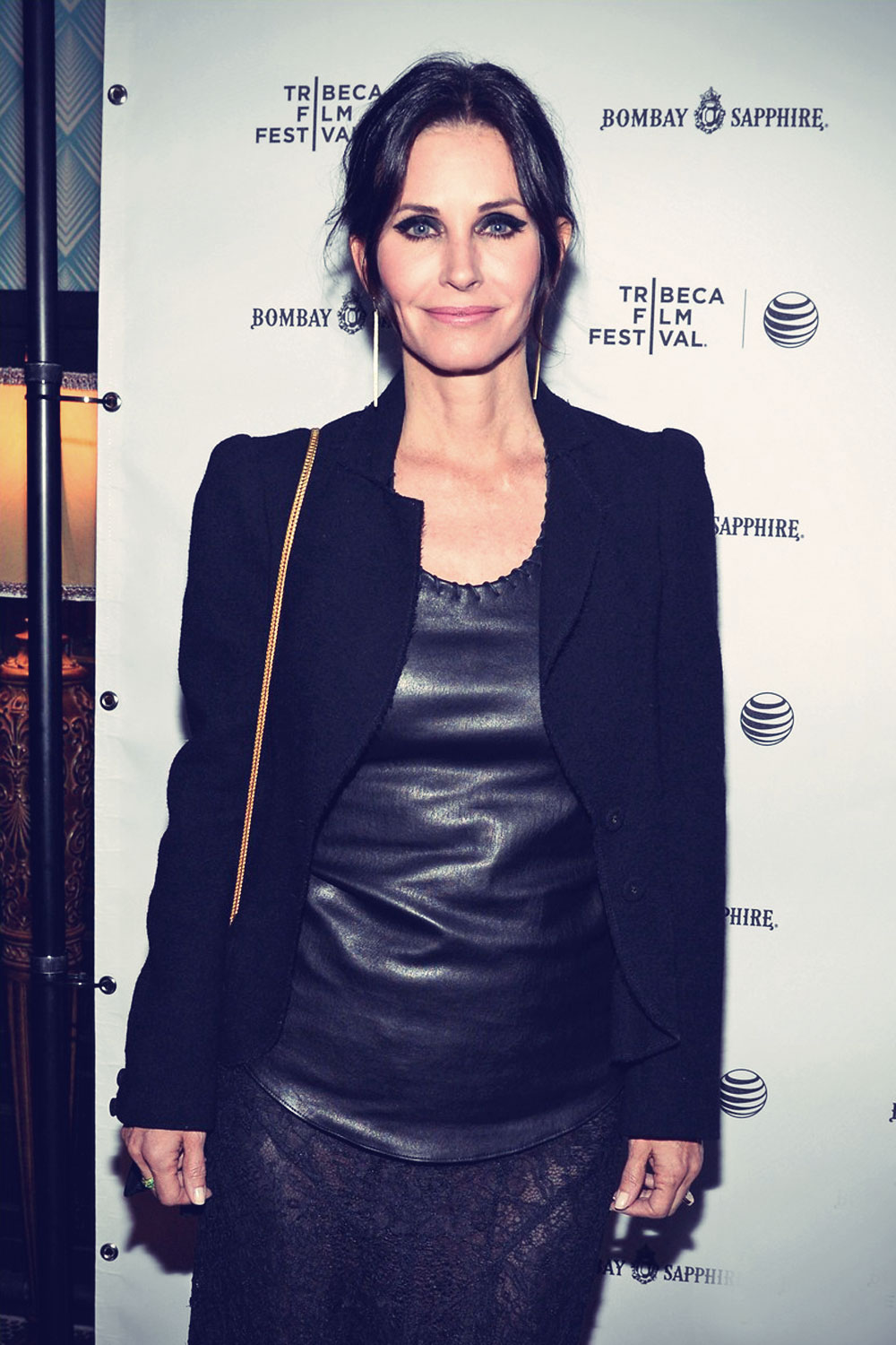 Courteney Cox arrives at the premiere of her film Just Before I Go