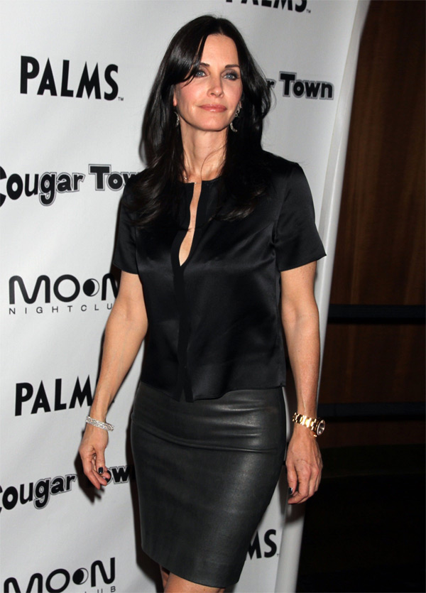 Courteney Cox at Cougar Town Viewing Party at Moon Nightclub in Las Vegas