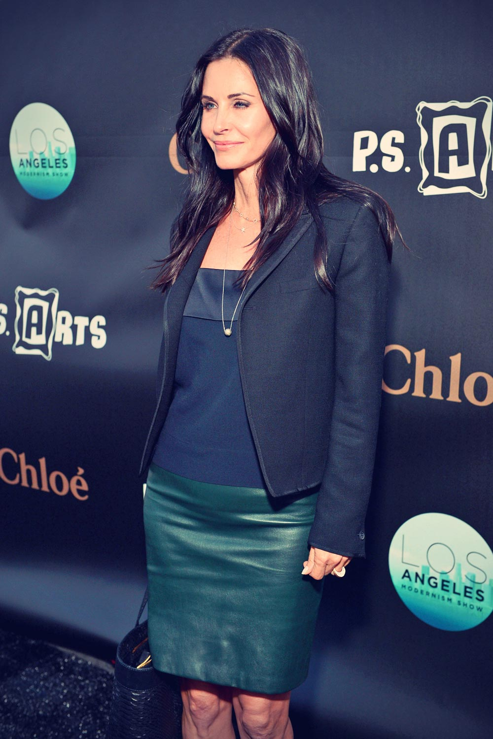 Courteney Cox attends the LA Modernism Show & Sale at Barker Hangar