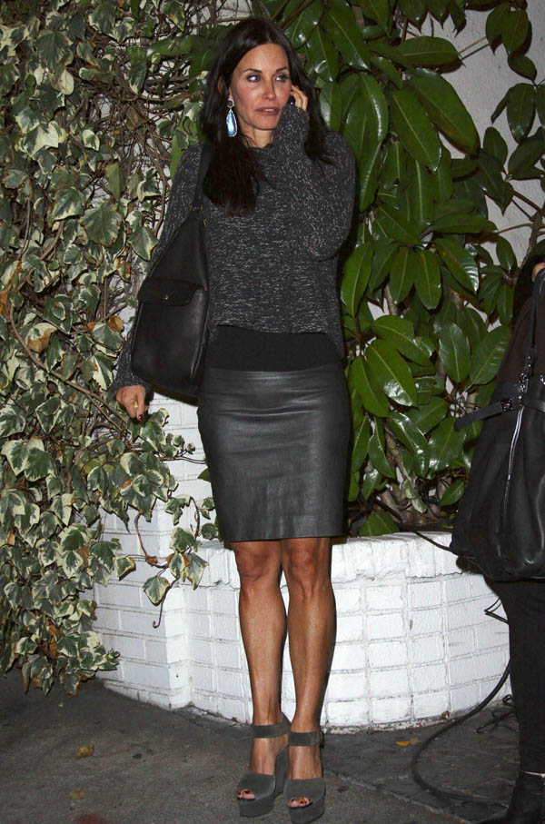 Courteney Cox at Chateau Marmont