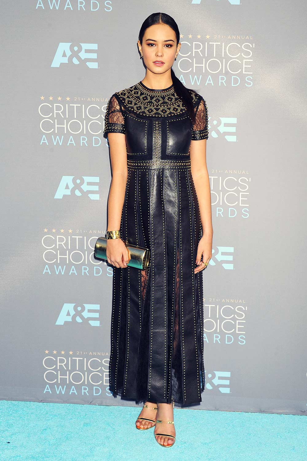 Courtney Eaton attends 21st Annual Critics Choice Awards