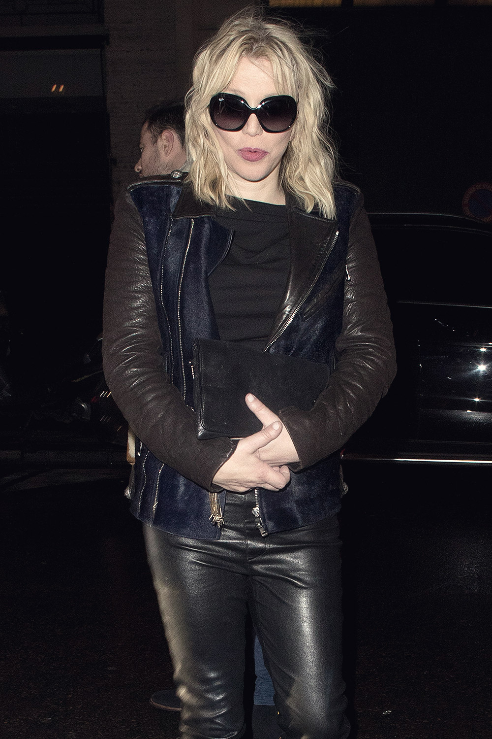 Courtney Love Attends Balmain S Party Leather Celebrities