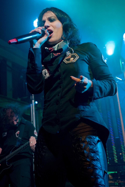 Cristina Scabbia Lacuna Coil performing live in Glasgow